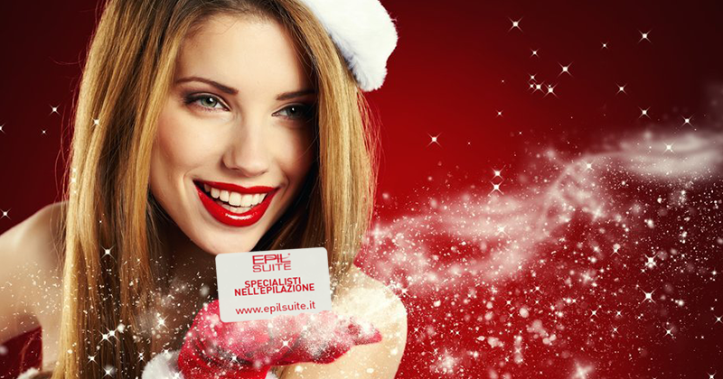 A Natale dona la Card prepagata di Epilsuite, un'idea regalo originale per la cura della pelle!